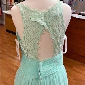 Christina Wu Dresses - Suzi mint green lace full length bridesmaid dress